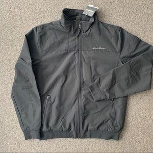 Eddie Bauer gray zipper jacket with fleece lining